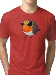 Cute Fat Robin Tri-blend T-Shirt