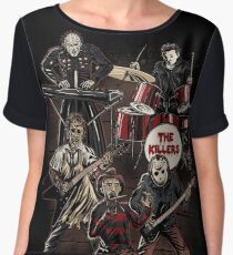 Death Metal Killer Music Horror Women's Chiffon Top