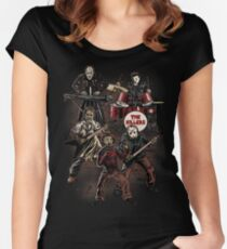 Death Metal Killer Music Horror Women's Fitted Scoop T-Shirt