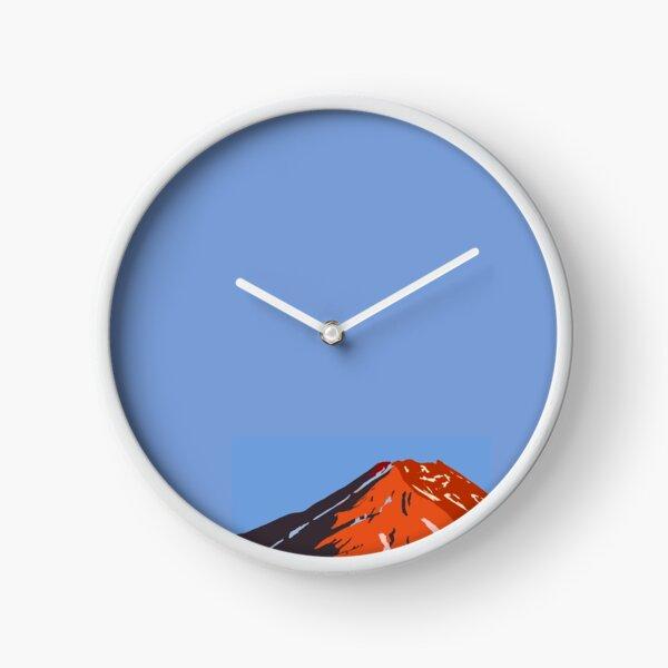 Syme Hut, Mt Taranaki, New Zealand Clock