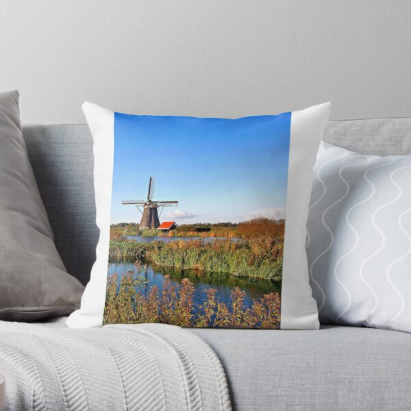 Windmill in Holland Throw Pillow