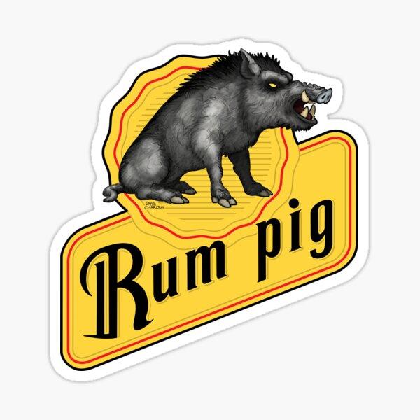 Rum Pig Sticker