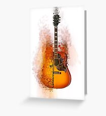 Exploding Gibson Guitar Greeting Card