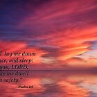 I Will Lay Down in Peace - Psalm 4:8 by Kathy Weaver