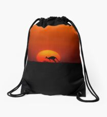 Can only happen in Australia Drawstring Bag