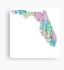Florida Lilly Pulitzer Coral Canvas Print