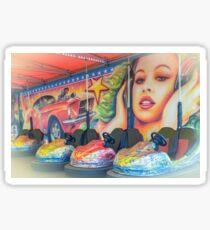 Fairground dodgems, Brighton Sticker