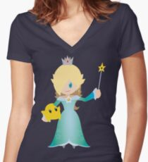 Chibi Rosalina Vector Women's Fitted V-Neck T-Shirt