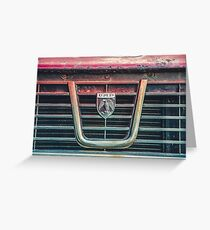Rusty Car Grill Greeting Card