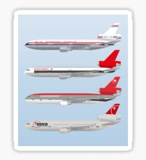 Wings In Uniform - DC-10 - Northwest Airlines - Through The Ages Sticker