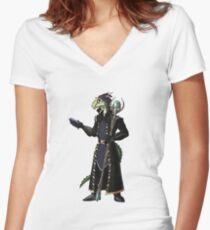 Skyrim Thalmor Argonian Women's Fitted V-Neck T-Shirt