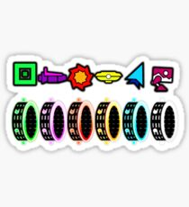 Geometry Dash - Portals Sticker