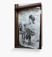 """""""The Ideal Brain Tonic"""" - Vintage Coca-Cola Advertisement Greeting Card"""