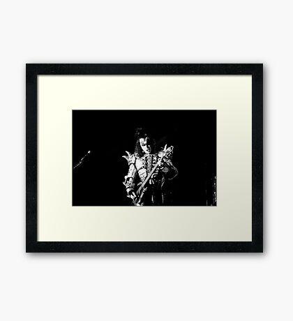 Gene Simmons of KISS Framed Print