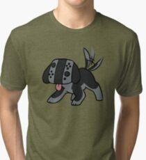 Nintendo Switch Controller Dog Tri-blend T-Shirt