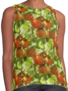Garden Cherry Tomatoes Nature Pattern Contrast Tank