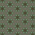 Repeating Olive and Neon Green Flower by WelshPixie