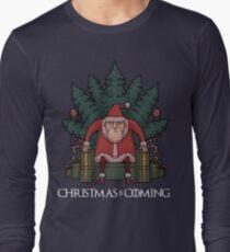Santa Of Thrones - Christmas Is Coming Long Sleeve T-Shirt
