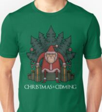 Santa Of Thrones - Christmas Is Coming Slim Fit T-Shirt