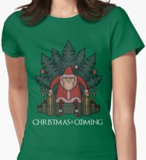 Santa Of Thrones - Christmas Is Coming Women's Fitted T-Shirt