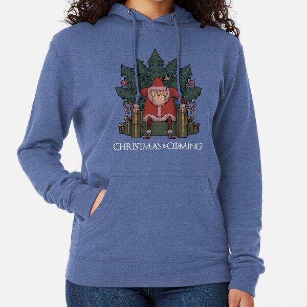 Santa Of Thrones - Christmas Is Coming Lightweight Hoodie