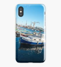 Fishing boats reflections La Ciotat harbour iPhone Case/Skin
