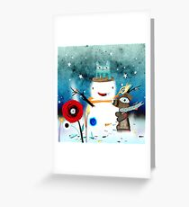 Aurora Australis Christmas Whimsical Stars Greeting Card