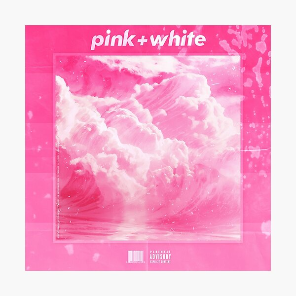 Frank O - Blonde - Pink & White Photographic Print