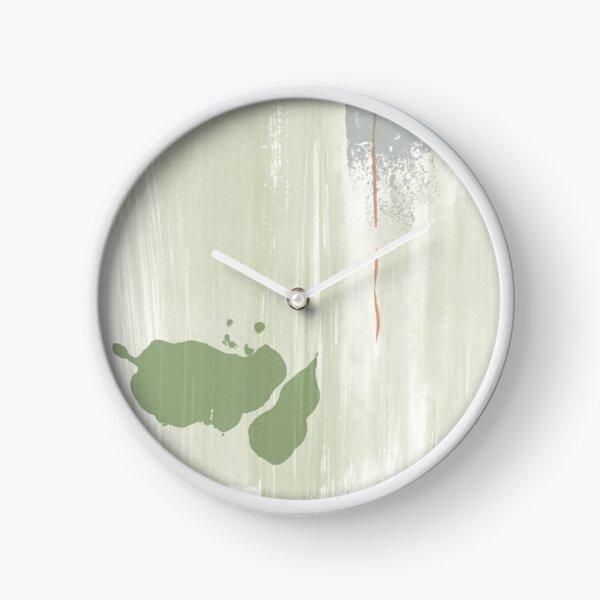 Light green abstraction Clock