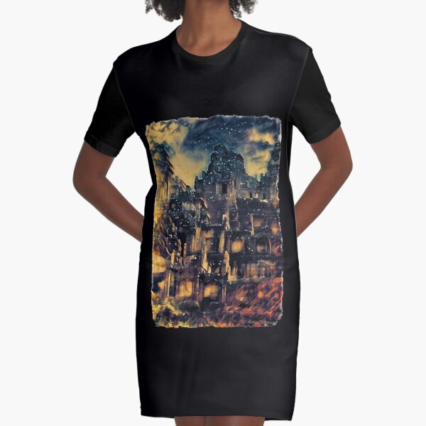 Takeo Temple  Graphic T-Shirt Dress