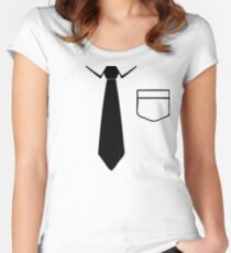 Tie Women's Fitted Scoop T-Shirt