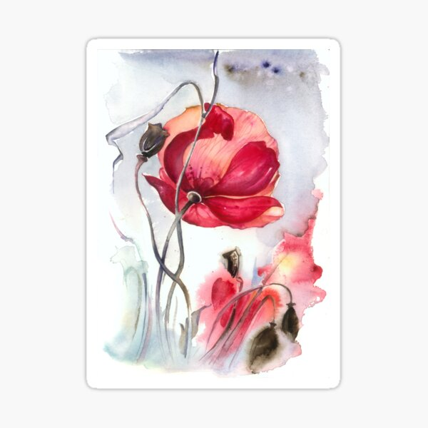"""""""When the Mists Fall Down"""" from the series """"Blossoming Planet"""" Sticker"""