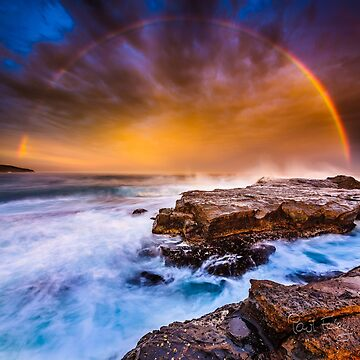 Awesome rainbow sunset by foles