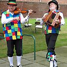 Strutting Their Stuff - Fiddler and Accordion Player by BlueMoonRose