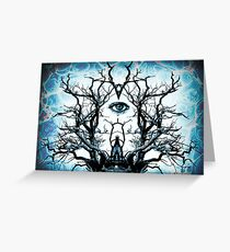 Tree of Life Archetype Religious Symmetry Greeting Card