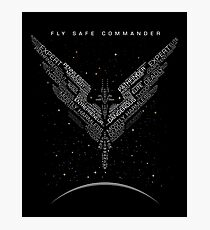 Elite Dangerous Ranks Photographic Print