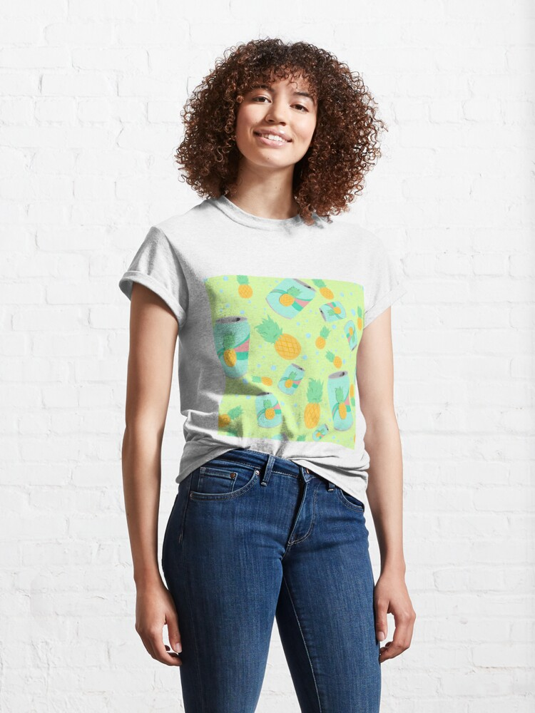 Alternate view of Pineapple Soda - pattern Classic T-Shirt