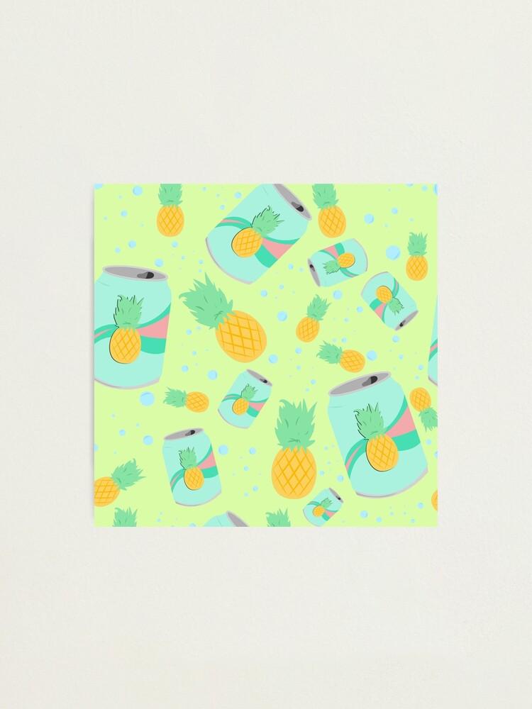 Alternate view of Pineapple Soda - pattern Photographic Print