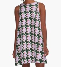 Abstract in Pink and White A-Line Dress