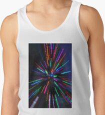blue crazy christmas lights Tank Top