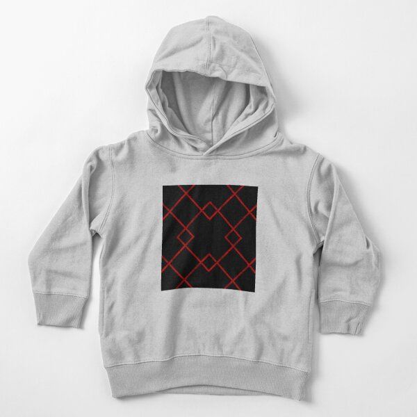 Red Lines Pattern Toddler Pullover Hoodie