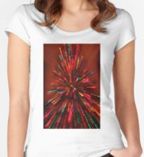 red crazy christmas lights Women's Fitted Scoop T-Shirt