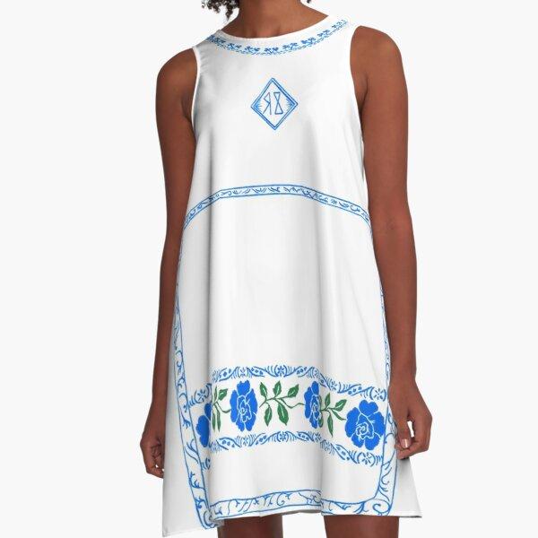 Midsommar-Kleid A-Linien Kleid