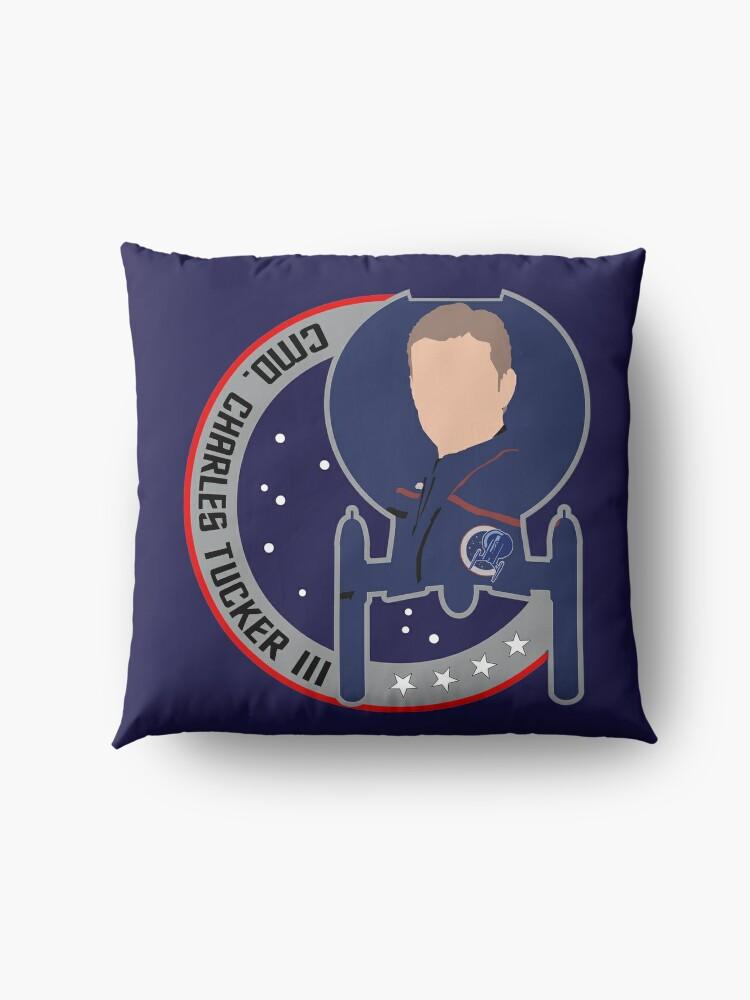 Alternate view of Commander Charles Tucker the 3rd - Star Trek, Enterprise Floor Pillow