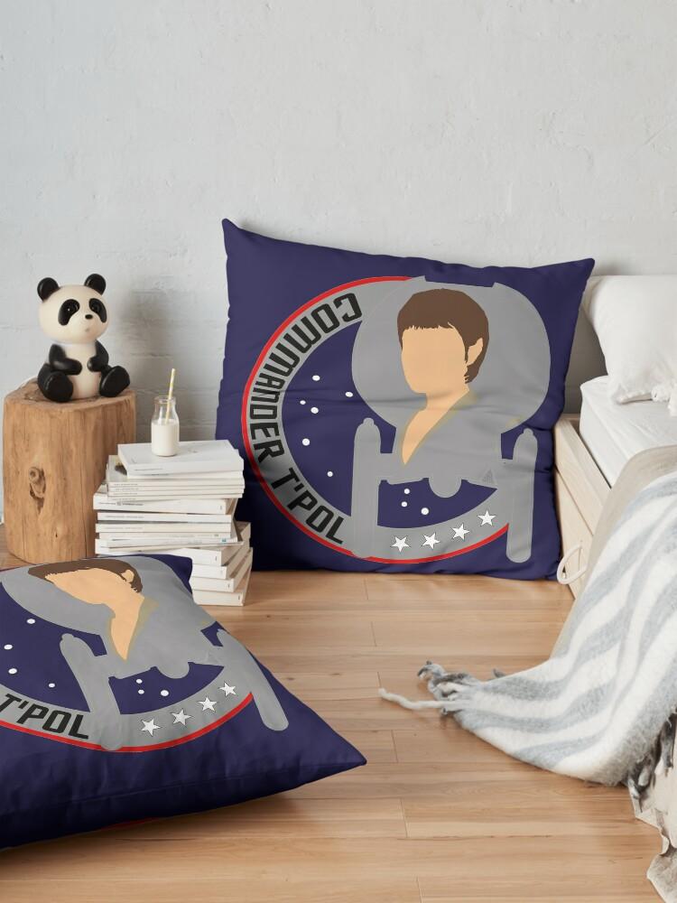 Alternate view of Commander T'Pol - Star Trek, Enterprise Floor Pillow