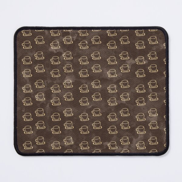 Distressed Coffee Cup Pattern Mouse Pad