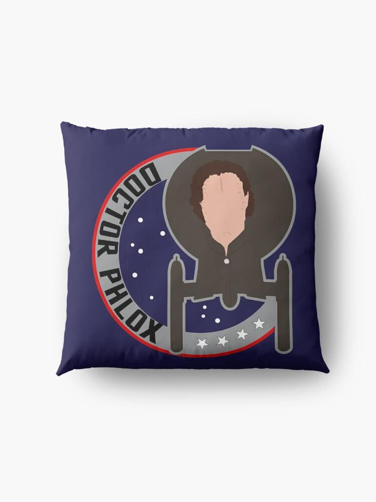 Alternate view of Dr. Phlox - Star Trek Enterprise Floor Pillow