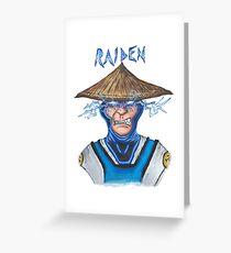 Raiden Greeting Card