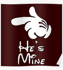 "he's mine ""Design Couple"" Poster"