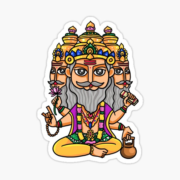 Lord Brahma Sticker Photo